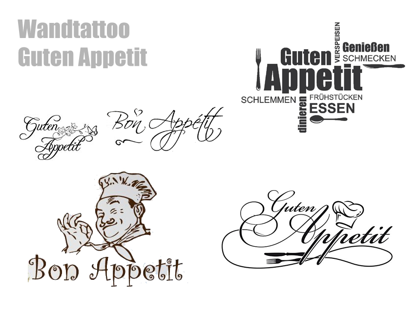 Awesome Wandtattoo Küche Guten Appetit Gallery - Milbank.us ...
