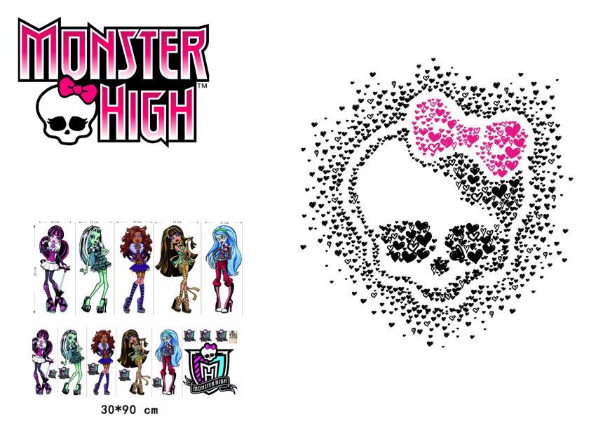 Kinderzimmer Tapeten Monster High : Monster High Wandtattoo