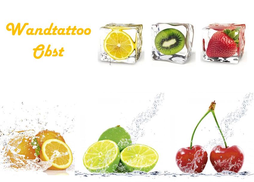 Wandtattoo Obst oder Frucht