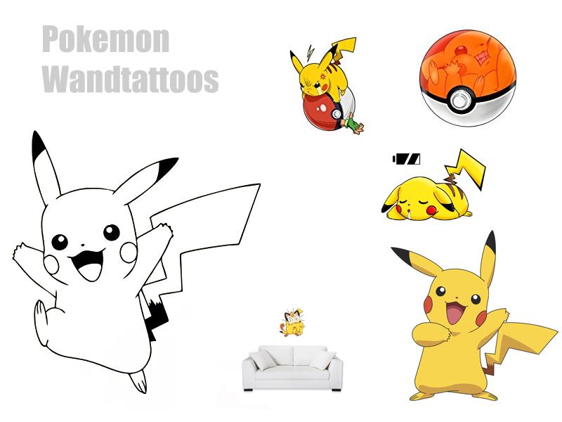 Wandtattoo Pokemon